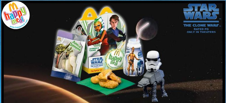 Image result for happy meal clone wars
